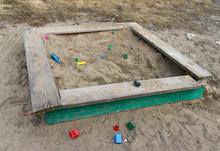 Abandoned Sandbox With Broken ...