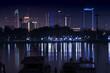 Night city view of Dubai skylines