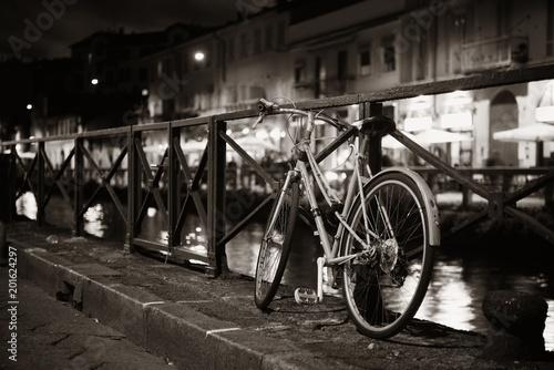 Naviglio Grande canal bike