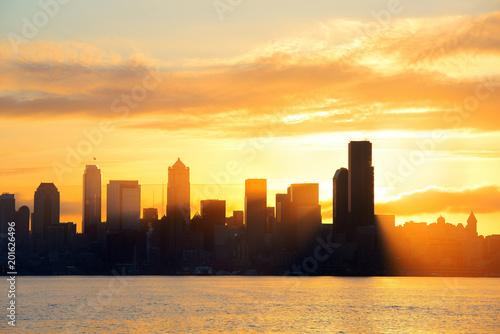Foto op Plexiglas Chicago Seattle sunrise