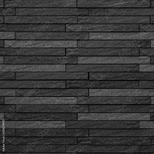 Foto op Plexiglas Black modern stone wall background