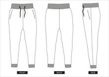 Design Vector Template Pants C...