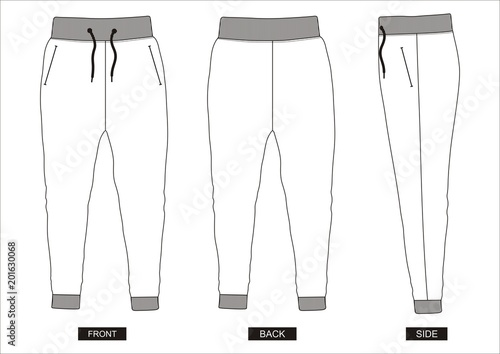 design vector template pants collection for men Canvas Print