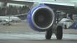 Aircraft turbine melts the air