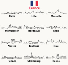 Vector Outline Icons Of France...