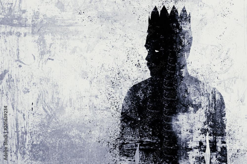 Fototapeta Dark king sketch