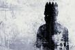 canvas print picture - Dark king sketch