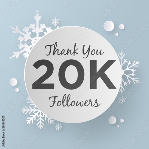 thank you 20k followers buy this stock vector and explore similar