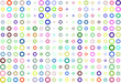 Abstract colored circles, bubbles, sphere or ellipses shape pattern. Repeat, tile, digital & web.