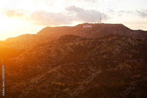Photo  The Hollywood Sign at the sunset, USA