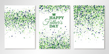 Banners Set With Green Confett...