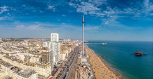 Aerial View Of Brighton In Sun...