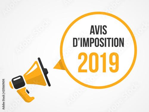 Photo avis d'imposition 2019