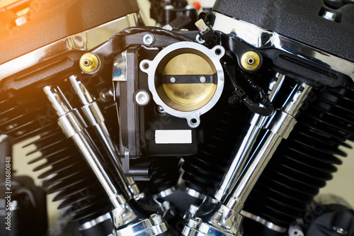 Engine cover cyclinder head of motocycle engine Canvas Print
