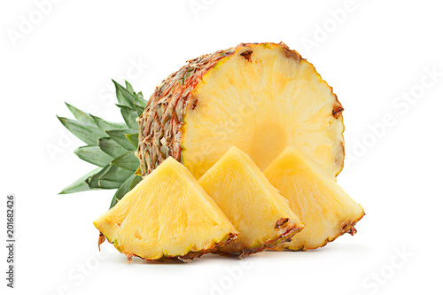 Pineapple tropical fruit closeup