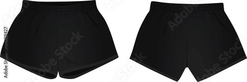Valokuva Black shorts. vector illustration