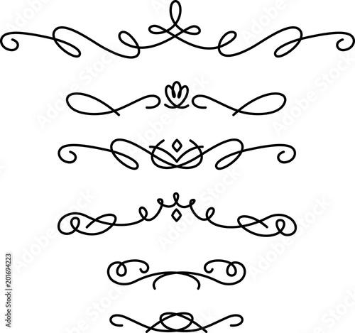 Fotografía  手書きの飾り線のセット