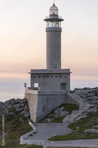 Foto op Aluminium Vuurtoren Punta Nariga lighthouse (Malpica, La Coruna - Spain).