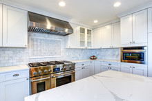 White Kitchen With Stainless S...
