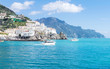 Scenic view of the Amalfi, Italy. Landscape