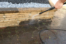 Exterior Cleaning And Building Cleaning With High Pressure Water Jet