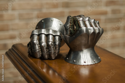 Photo  Medieval armor, detail of an ancient armor