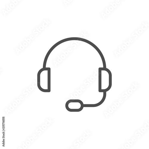 Headset line icon Fototapeta