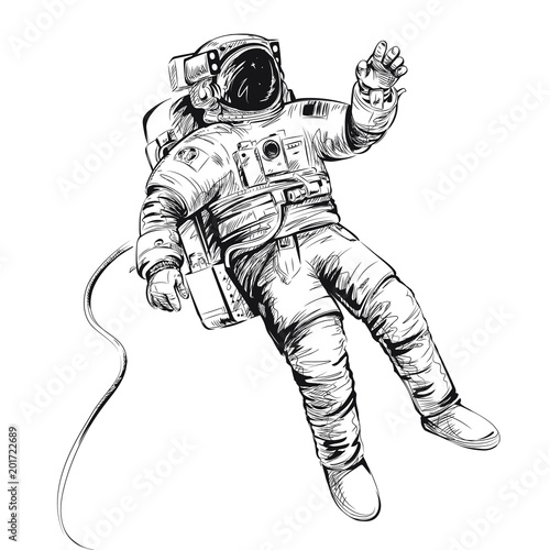 Fotografija Cosmonaut or astronaut in spacesuit