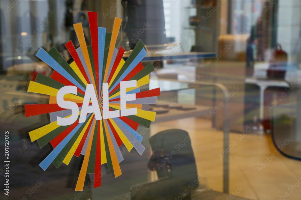 Fototapeta Sale signs - shopping concept
