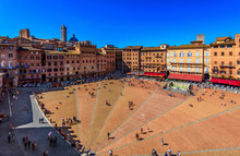 Aerial View Of Siena, Campo Sq...
