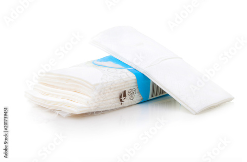 Packet of tissues isolated on the white background Fototapete