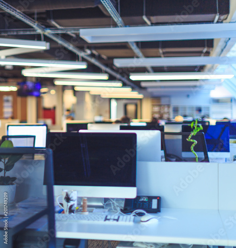 Modern Office Background Blur Buy This Stock Photo And Explore