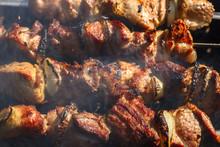 Shish Kebab Roasting On The Gr...