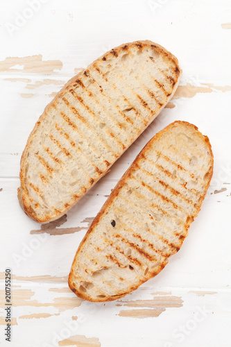 Grilled bread toast