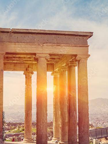 Zdjęcie XXL Akropol w Atenach, Grecja. Świątyni Partenon na zachód słońca.
