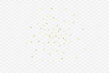 Round Gold Confetti.