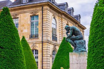 The Thinker (Le Penseur) 1880—1882 - bronze sculpture by Auguste Rodin, Paris. France