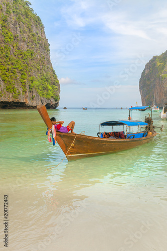 Fototapety, obrazy: Amazing Maya beach at sunrise, Krabi, Thailand