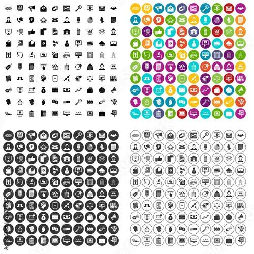 Fototapeta 100 commerce department icons set vector in 4 variant for any web design isolated on white obraz na płótnie