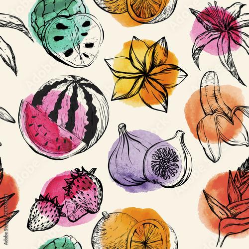 wzor-z-egzotycznymi-owocami