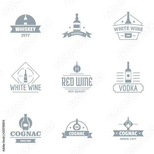 Láminas  Alcoholic beverage logo set