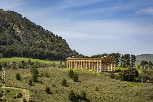 Fotografie, Obraz  antiker römischer Tempel in Segesta in Sizilien