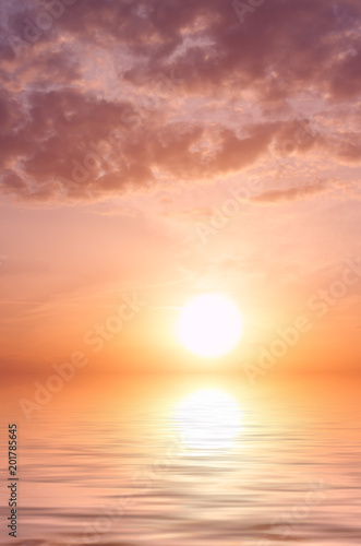 Sunset with storm clouds and water Canvas-taulu