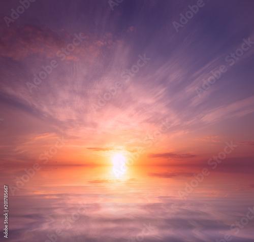 Türaufkleber UFO Ordinary, but beautiful sunset.