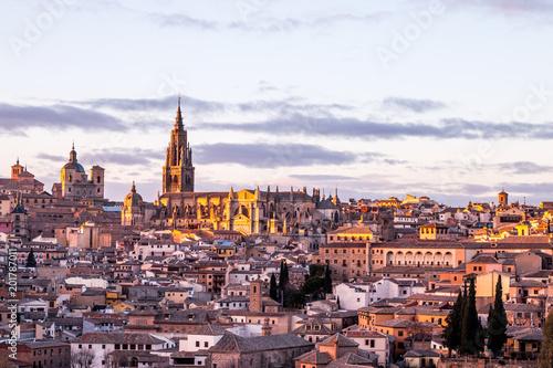 Spoed Foto op Canvas Zuid-Amerika land Toledo, Castilla La Mancha, España