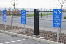 Electric Charging Point For Vehicles Cars Bikes Free No Charge Operated In Shopping Mall Retail Park In Car Parking Space