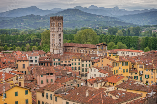 Fototapety, obrazy: Medieval town Lucca, Tuscany, Italy