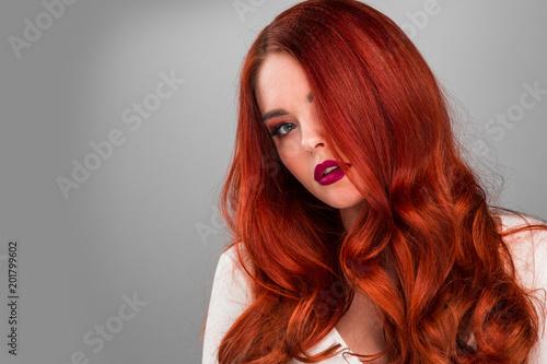 Canvas Print Gorgeous redhead model girl