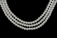 Three Strand Pearl Necklace On...
