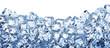 Leinwandbild Motiv Ice cube background. Clipping path.